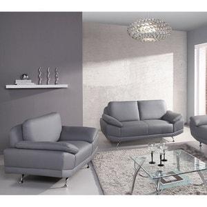 Canape Cuir Blanc Et Gris La Redoute - Canape cuir gris et blanc