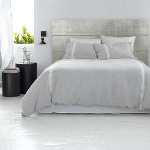 Cabecero de cama de metal amartillado, Al. 120 cm, Luba