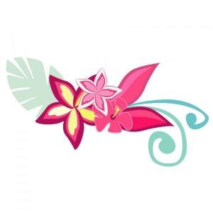 Sticker Hawaï : Fleur d'hibiscus DECOLOOPIO