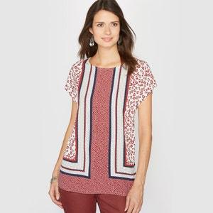 Dual Fabric Printed T-Shirt ANNE WEYBURN