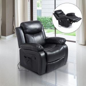 Fauteuil de massage électrique noir HOMCOM