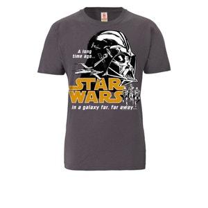 T-Shirt Organic Guerre des étoiles - Star Wars - Darth Vader - mauve foncé LOGOSHIRT