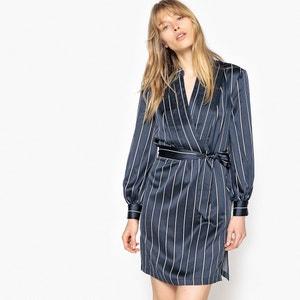 Gestreiftes Kleid mit langen Ärmeln, Seitenschlitze La Redoute Collections