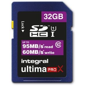 Cartes memoire  SDXC 32 GO CL 10 95/90 INTEGRAL