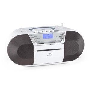 auna Jetpack Boombox Radiocassette portable USB CD MP3 K7 UKW Fonctionnement sur piles -blanc AUNA