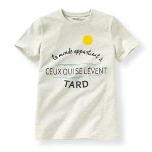 Pijama con short estampado con mensaje 10-16 años La Redoute Collections