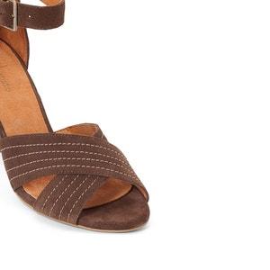 Sandales cuir brides croisées R studio