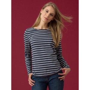 T-shirt femme rayé coton bio, IGO SOMEWHERE