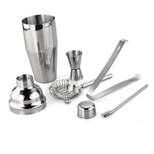 Kit cocktail shaker coffret 5 pièce accessoire barman acier inoxydable Yonis