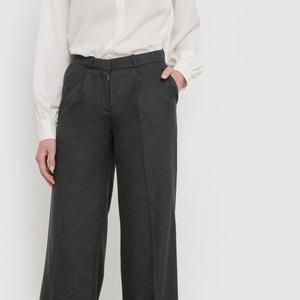 Pantalon large en flanelle atelier R