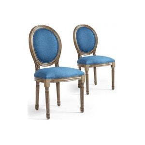 lot 2 chaises medaillon la redoute. Black Bedroom Furniture Sets. Home Design Ideas