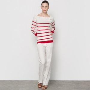 Pantaloni straight in lino atelier R