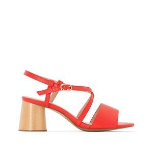 Sandálias com tacão de madeira CASTALUNA