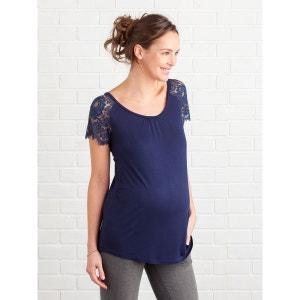 T-shirt manches courtes dentelle de grossesse VERTBAUDET
