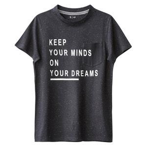 T-Shirt, bedruckt, 10-16 Jahre La Redoute Collections