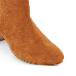 Boots in leer met houten hak La Redoute Collections
