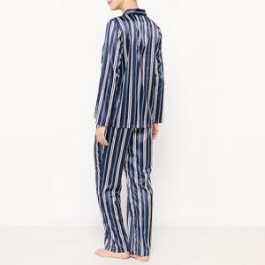 Pijama a rayas con 2 prendas, de manga larga La Redoute Collections