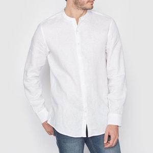Camisa con corte recto 100% lino R essentiel
