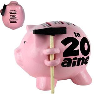Tirelire cochon avec un petit marteau - 20 ans SUD CARGO