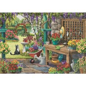 Puzzle 200 pièces XL : Jardin au printemps DISET
