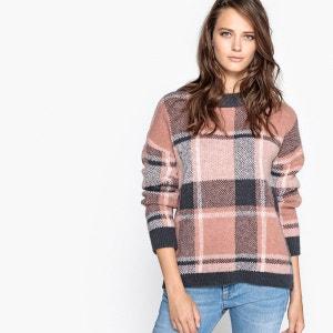 Pull à carreaux, laine La Redoute Collections