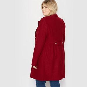 Abrigo estilo casaca de paño de lana CASTALUNA