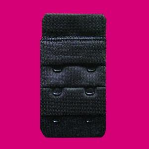Rallonge noire de soutien gorge 2 crochets JULIMEX