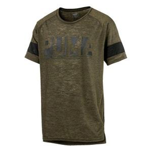 T-shirt scollo rotondo motivo davanti PUMA