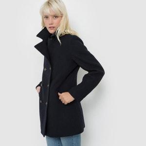 Manteau en laine, double boutonnage, MELANE SCHOOL RAG
