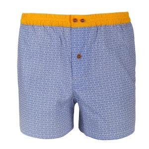 Caleçon à motifs bleus avec ceinture jaune DAGOBEAR