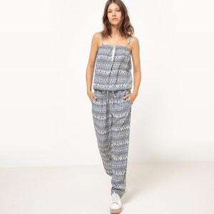 Jumpsuit met smalle schouderbandjes, geometrische print MOLLY BRACKEN