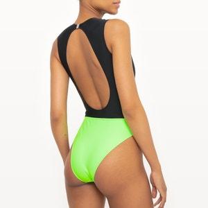 Fluorescent Two-Tone Swimsuit SOPHIE MALAGOLA PARIS X LA REDOUTE MADAME