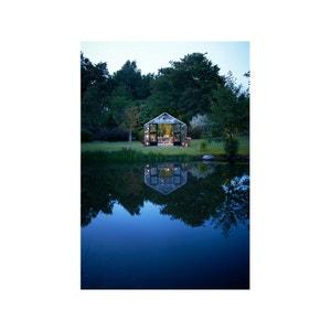 """Serre verre """"Gardener"""" - Aluminium - 21,4 m² - 5,83 x 3,68 x 2,87 m. HABITAT ET JARDIN"""