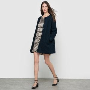 Mantel mit rundem Ausschnitt SUNCOO