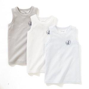 3er-Pack Unterhemden, ärmellos, 2-12 Jahre La Redoute Collections