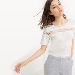 Camiseta con cuello redondo, de algodón MADEMOISELLE R