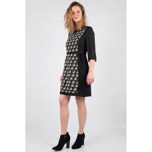 Krótka, wzorzysta sukienka z rękawem 3/4 MOLLY BRACKEN