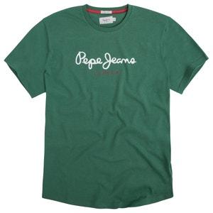 Plain Short-Sleeved Crew Neck T-Shirt PEPE JEANS