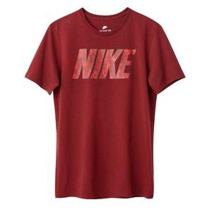 T-shirt estampada com gola redonda, mangas curtas NIKE