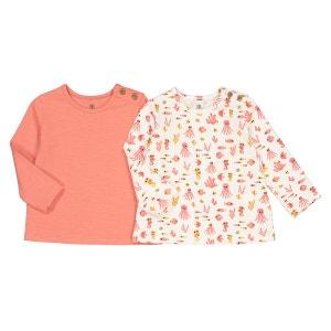 Lote de 2 camisetas de algodón orgánico meses-2 años