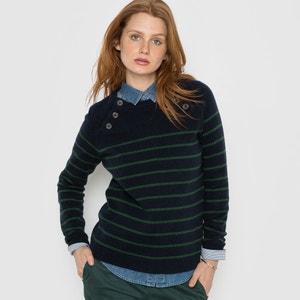 Gestreepte trui met knopen aan de mouwinzetten R essentiel