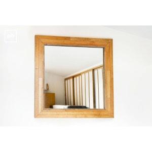 Miroir bois brut la redoute for Miroir en bois brut