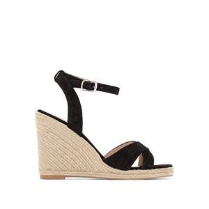 Sibel Leather Wedge Sandals JONAK