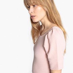 Kleid in A-Linie mit kurzen Ärmeln und Rückenausschnitt MADEMOISELLE R