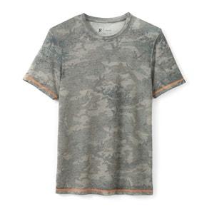 T-shirt met camouflageprint en ronde hals R essentiel