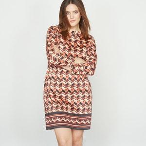 Bedrukte jurk in stretch katoen CASTALUNA