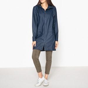Black Long Zip-Up Jacket RAINS
