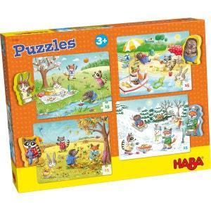 Puzzles 15 pièces : 4 puzzles : Les saisons HABA