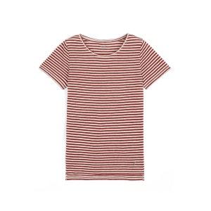 T-shirt manches courtes jersey de lin rayé, HENOKO SOMEWHERE