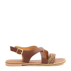Sandales aztèque brunes SACHA
